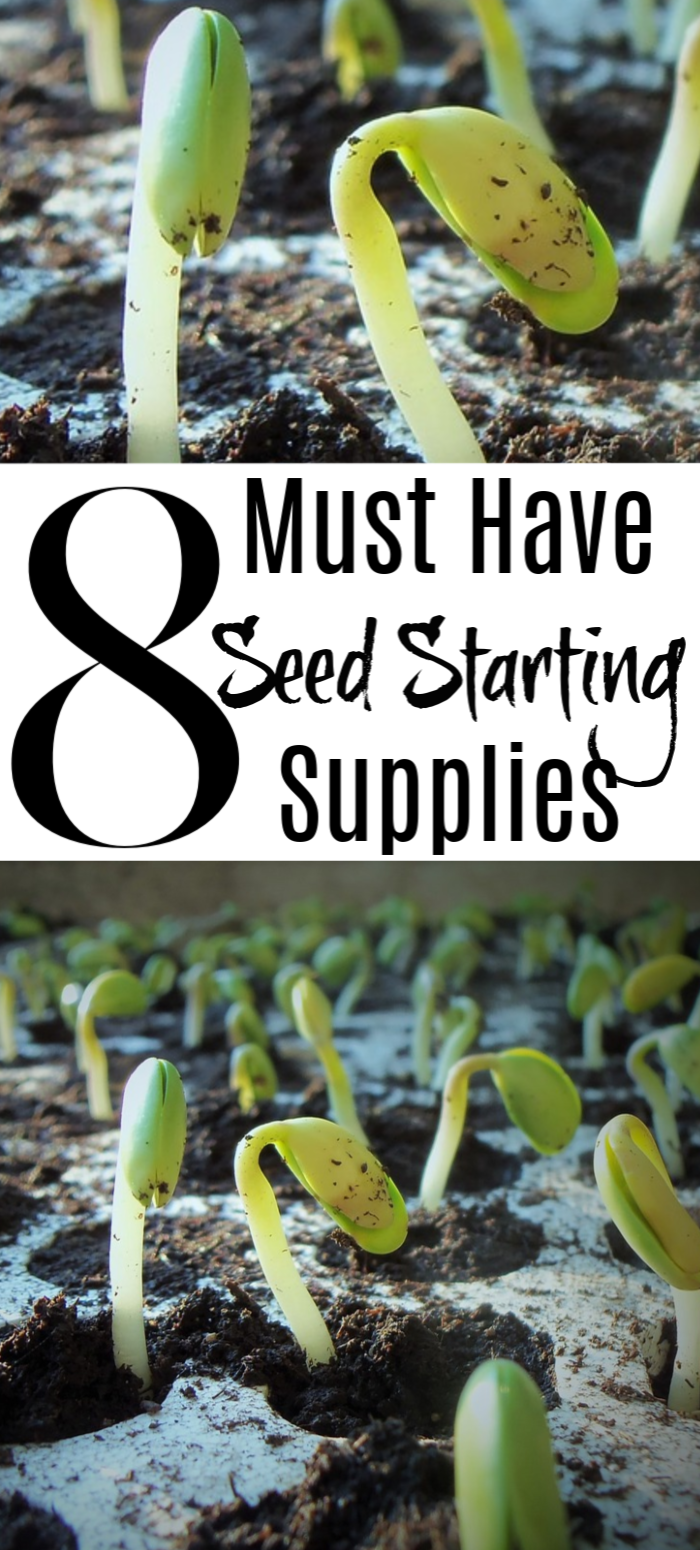 Want to jump start your garden? Or are you a beginner & want to start off right? This will help: Seed Starting Indoors: 8 Must Have Seed Starting Supplies!