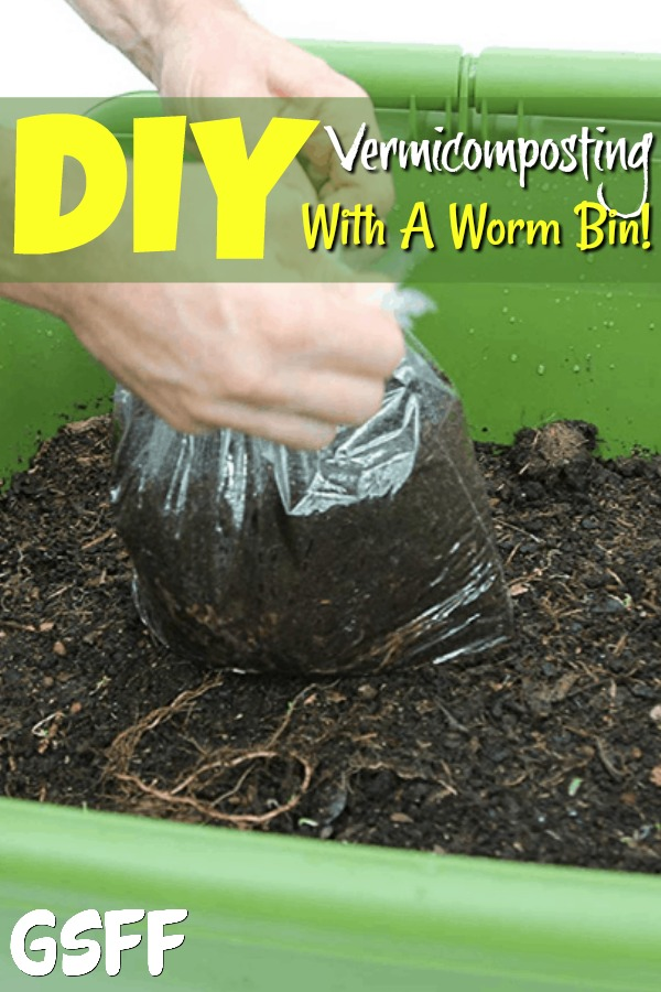 Want to start composting? What about vermicompsting with a worm bin? Vermicomposting is super simple & rewarding! Start your DIY Vermicomposting Worm bin today!