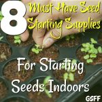 Seed Starting Indoors:  Must Have Seed Starting Supplies!
