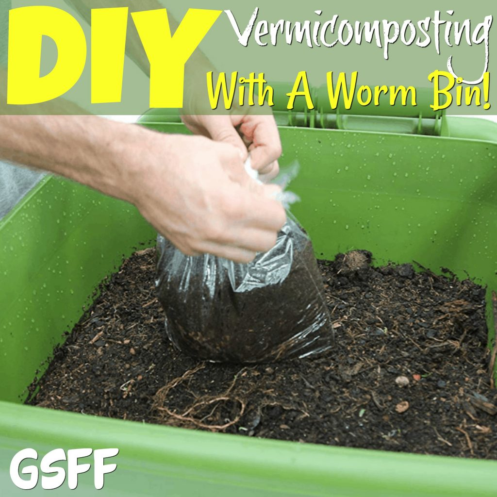 Want to start composting? What about vermicomposting with a worm bin? Vermicomposting is super simple & rewarding! Start your DIY Vermicomposting Worm bin today!