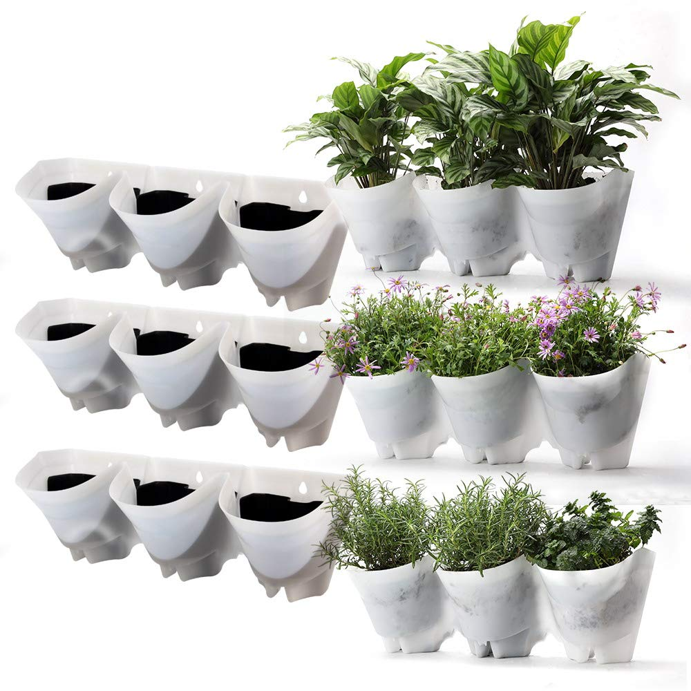 Self-Drippping Vertical Garden Wall Planters