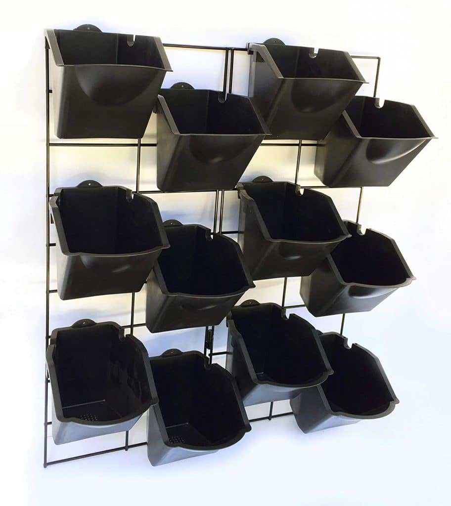 Vertical Wall Garden Planter Kit with 12 Pots