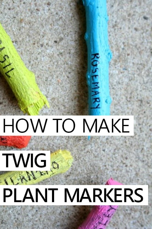 DIY Painted Upcycled Twig Plant Markers