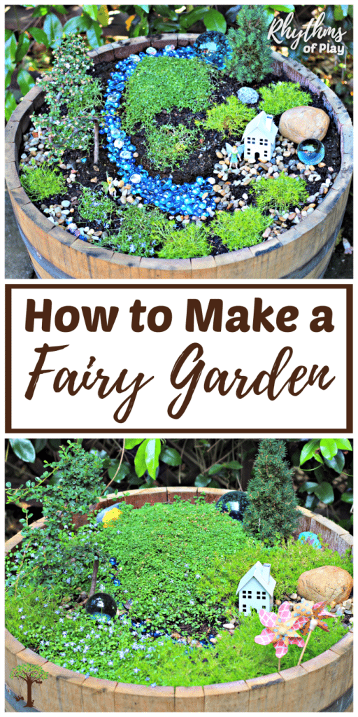 How to Make a Fairy Garden Step by Step Tutorial