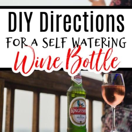 Wine Bottle Watering Ideas